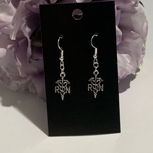 RN Registered Nurse Caduceus Earrings